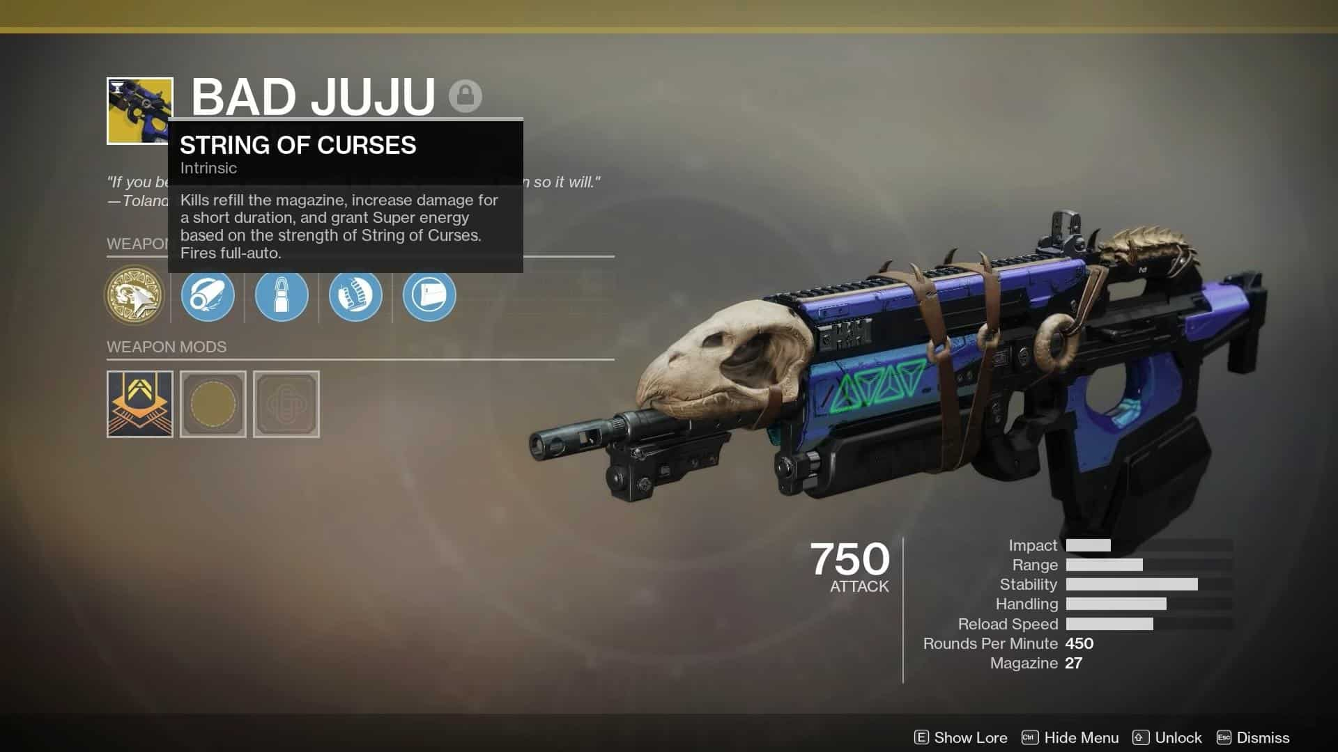Destiny 2 weapon